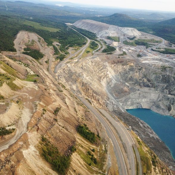 Survol des mines de Black Lake et de Thetford Mines